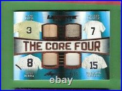 BABE RUTH Mickey Mantle THURMAN MUNSON YOGI BERRA JERSEY & BAT CARD #d2/15 LEAF