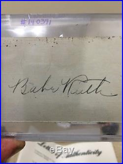 BABE RUTH Signed Cut Autograph Yankees HOF PSA/DNA Authentic