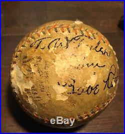 BABE RUTH autographed baseball Spring training MARCH 1927 St Petersburg Florida
