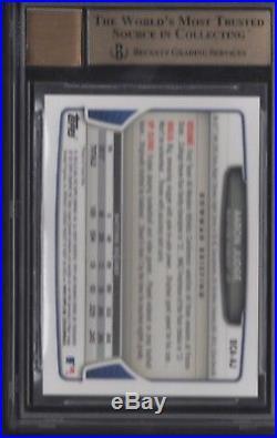 BGS 9.5 AUTO 10 AARON JUDGE 2013 Bowman Chrome Draft (2) 10 SUBS #AJ RC GEM MINT