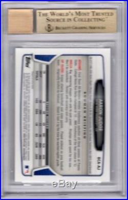 BGS 9.5 AUTO 10 AARON JUDGE 2013 Bowman Chrome Draft Autograph #AJ RC GEM MINT