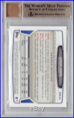 BGS 9.5 AUTO 10 AARON JUDGE 2013 Bowman Chrome Draft Autograph RC TRUE GEM MINT