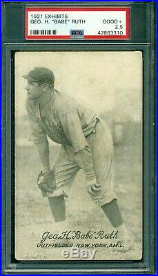 Babe Ruth 1921 Exhibits PSA 2.5 Earliest Ruth Exhibit Card Awesome Card
