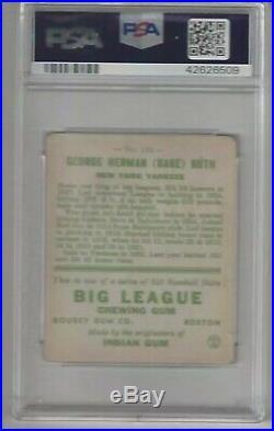 Babe Ruth 1933 Goudey Gum Baseball Card #149 HOF NY Yankees PSA 1.5