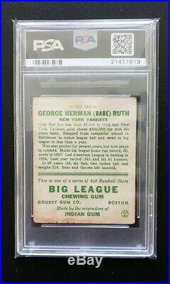 Babe Ruth 1933 Goudey Psa 2 Centered Vintage Hof Eye Appeal