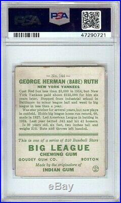 Babe Ruth 1933 Goudey RC Rookie Card Graded PS 4 VG-EX Yankees #144