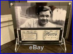 Babe Ruth 1/1 Game Used Bat Barrel Auto Clean Autograph Original Redemption LOOK