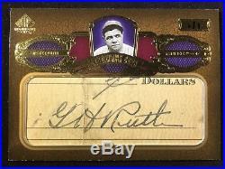 Babe Ruth 2007 Upper Deck SP Legendary Cuts 1/1 Cut Auto Autograph! Yankees HOF