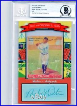 Babe Ruth 2017 Authentic Autograph 1930 Goudey #1/3