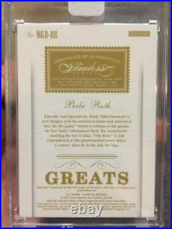 Babe Ruth 2017 Flawless Greats Yankees Legend Dual Game-used Jersey Bat /15