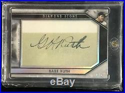 Babe Ruth 2019 Topps Diamond Icons Cut Signature Auto Autograph 1/1 Yankees