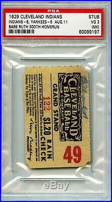 Babe Ruth 500 Homerun HR Ticket Stub. Pop 1 of 1. PSA 3