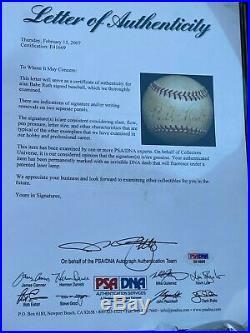 Babe Ruth Autograph Single Signed baseball