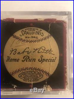 Babe Ruth Autographed Baseball 1/1 Only One In Existence Charles Fazzino Artwork