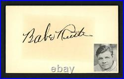 Babe Ruth Autographed Signed 3x5 Index Card New York Yankees PSA/DNA AF45414