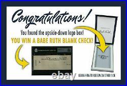 Babe Ruth Bas Bgs Signed Handwriting Factory Sealed Box Auto Beckett Psa Jsa