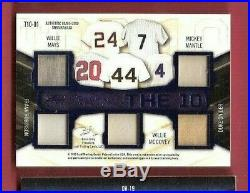 Babe Ruth Bat Card Mickey Mantle Ted Williams Mays Musial Jersey Card Leaf #1/12