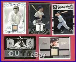 Babe Ruth Bat Mickey Mantle Roger Maris Game Used Jersey Billy Martin Pants Card