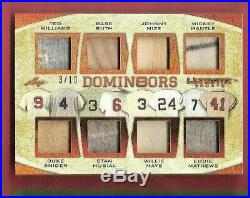 Babe Ruth Bat Mickey Mantle Ted Williams Musial Mays Jersey Card #10 Leaf 1 Of 1