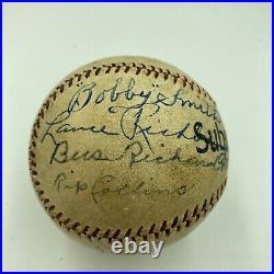 Babe Ruth & Lou Gehrig 1920's New York Yankees Signed Baseball With JSA COA