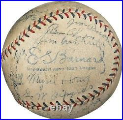 Babe Ruth & Lou Gehrig 1931 Yankees Team Signed Baseball With 10 HOFers PSA DNA