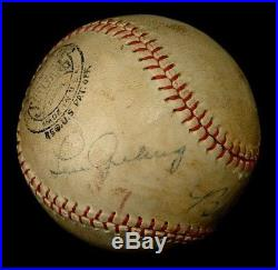 Babe Ruth & Lou Gehrig Autographed Baseball Authenticated