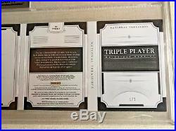 Babe Ruth Mantle Lou Gehrig Jumbo Jersey BGS9 National Treasures Relic 1of2 Made