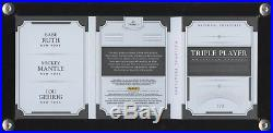 Babe Ruth Mickey Mantle Lou Gehrig National Treasures 1/3 Jersey Booklet Yankees
