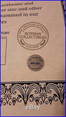 Babe Ruth Signed Autohraphed Baseball. Yankees. Rotman Collectibles Coa. Sealed