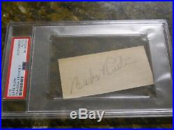 Babe Ruth Signed Cut Signature Psa/dna Authentic Autograph New York Yankees