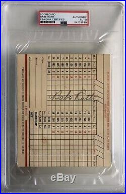 Babe Ruth Signed Signature Psa/dna Authentic Autograph
