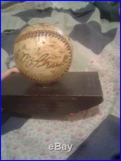 Baseball 1928 World series. Autographs Babe Ruth, John McGraw, Nick Altrock