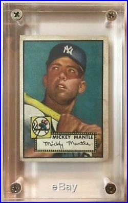 Beautiful 1952 Topps Mickey Mantle # 311 New York Yankees Famous Baseball Card