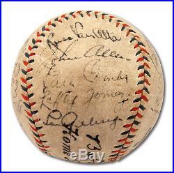 Beautiful Babe Ruth & Lou Gehrig 1933 Yankees Team Signed Baseball PSA DNA COA