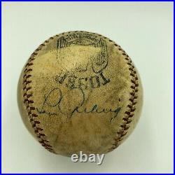Beautiful Babe Ruth & Lou Gehrig Dual Signed Autographed 1920's Baseball JSA COA