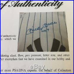 Beautiful Mickey Mantle #7 Signed Authentic 1952 New York Yankees Jersey PSA DNA