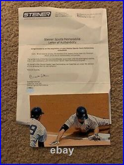 Brett Gardner Game Worn Game Used Signed Yankees Home Jersey MLB Steiner holo