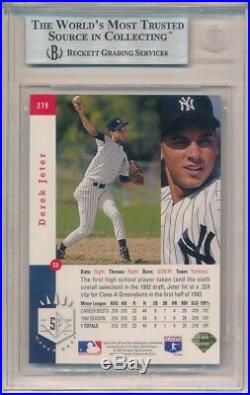 DEREK JETER 1993 SP FOIL #279 RC ROOKIE NEW YORK YANKEES BGS 8.5 NM-MT+ With 9.5