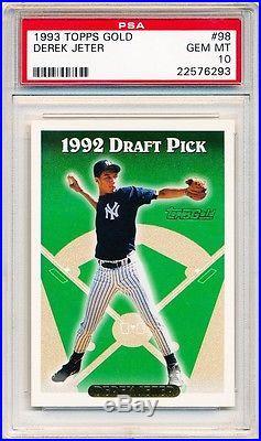 DEREK JETER 1993 Topps Gold #98 PSA 10 GEM MINT ROOKIE RC Yankees