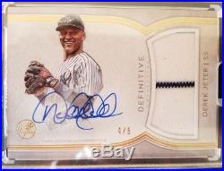 DEREK JETER #4/5 2018 TOPPS DEFINITIVE PATCH AUTO AUTOGRAPH GAME USED Yankees