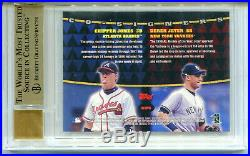 DEREK JETER/CHIPPER JONES 1999 Stadium Club Co-Signers Dual Auto SP BGS 9.5 10