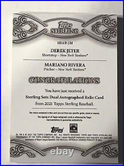 DEREK JETER & MARIANO RIVERA 2021 Topps Sterling Dual Patch Auto Autograph 1/5