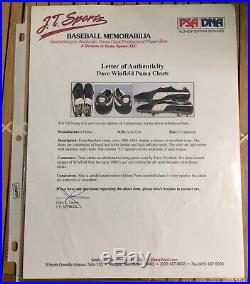 Dave Winfield Game Used Worn Autograph Cleats New York Yankees PSA/DNA 1981