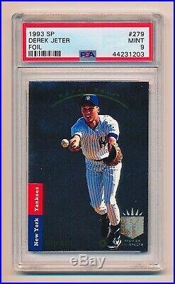 Derek Jeter 1993 SP Foil #279 RC PSA 9 Mint High Condition