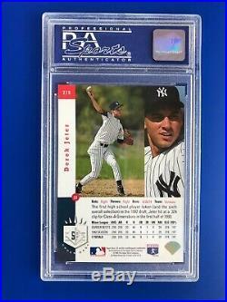 Derek Jeter 1993 Sp Foil #279 Rc Rookie Card New York Yankees Psa 8 Nm-mt