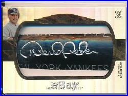 Derek Jeter 1/1 Game Used Bat Barrel Relic NAME PLATE Yankees 2014 Topps Tribute