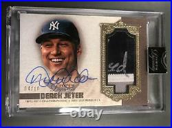 Derek Jeter 2019 Topps Dynasty Auto Autograph Patch Relic #4/10 NY Yankees