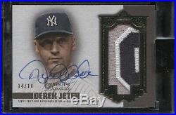 Derek Jeter 2019 Topps Dynasty Jumbo Game Used Patch On-Card Auto #4/10 Yankees