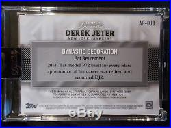 Derek Jeter Auto Numbered 09/10 2017 Topps Dynasty Yankees On Card Auto
