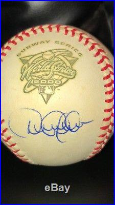 Derek Jeter Autographed 2000 Subway World Series Ball WithYanks and Mets Logos-MLB